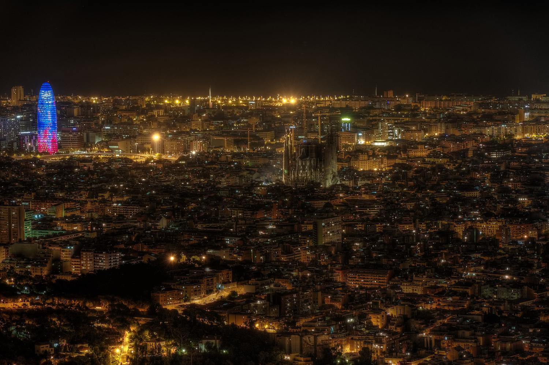 Barcellona notturna dal Tibidabo - 1...