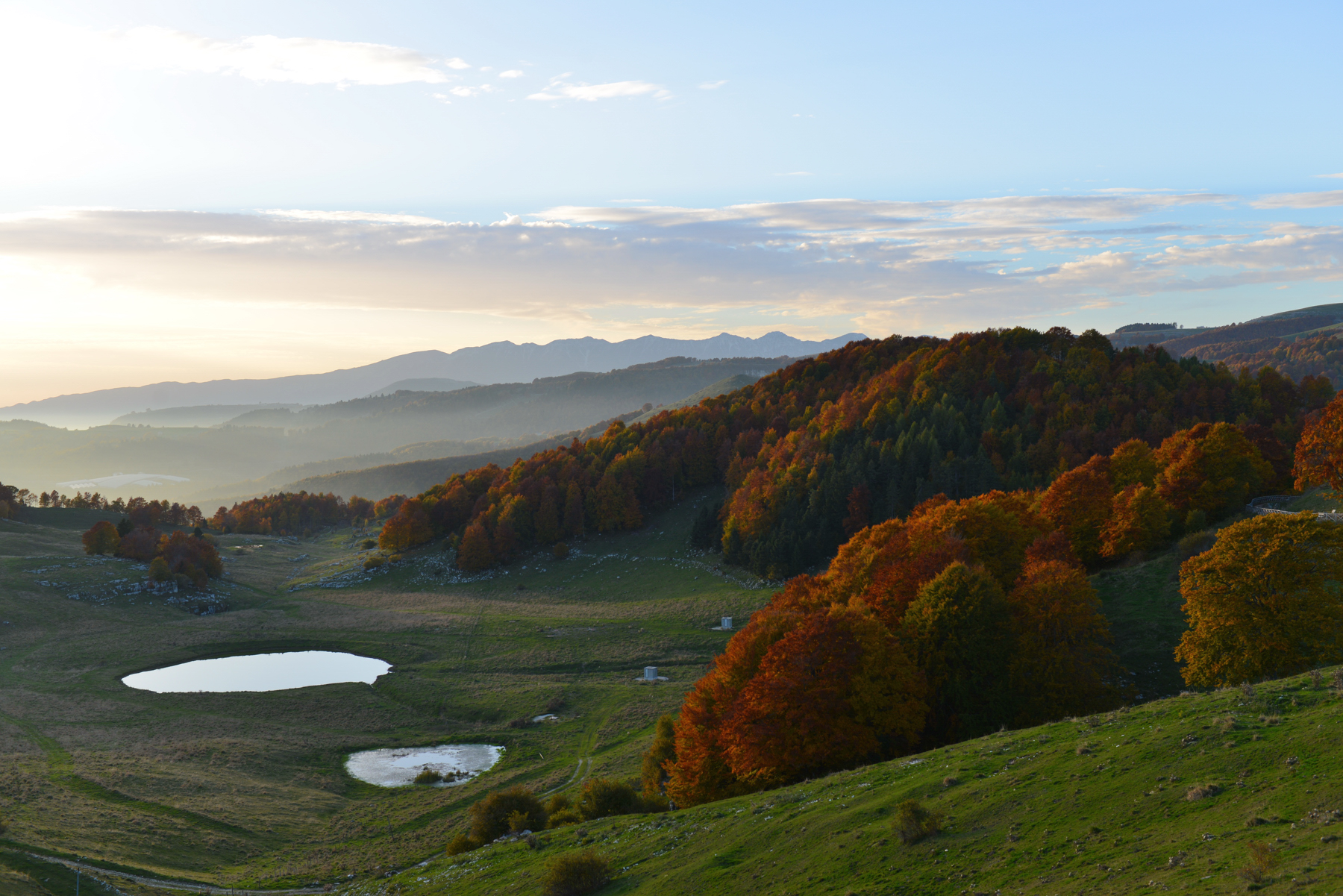Lessinia - Tramonto d'autunno...