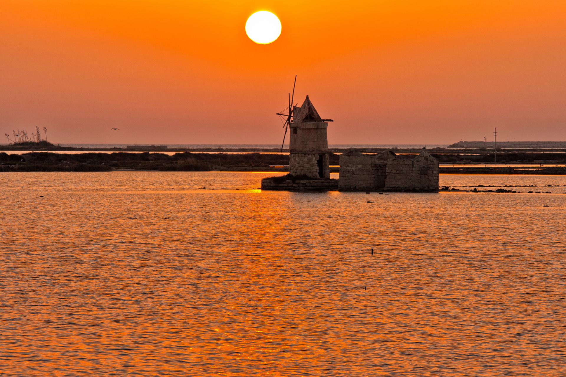 Sunset on the sea...