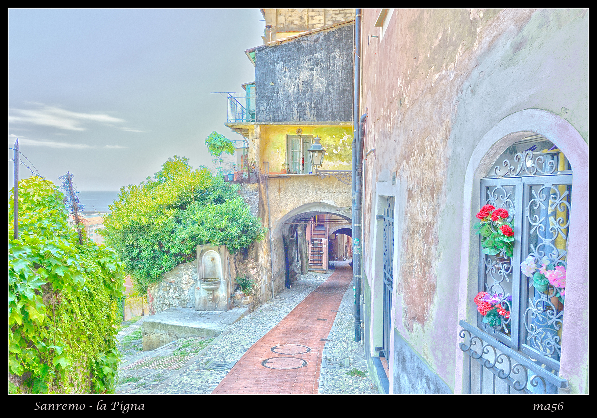 Sanremo - the Pigna (access to the old town) HDR...