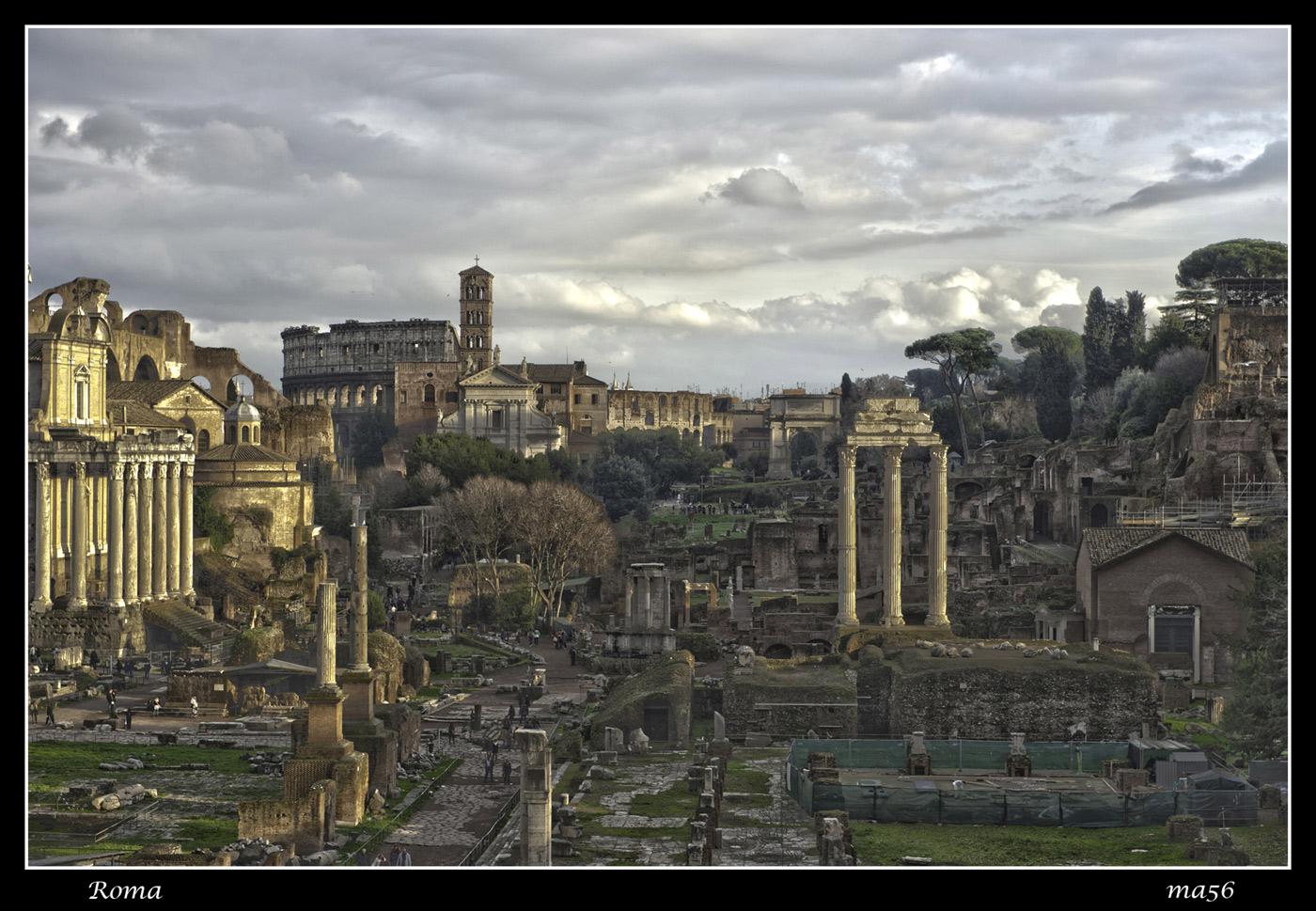 Rome - Roman Forum - HDR...