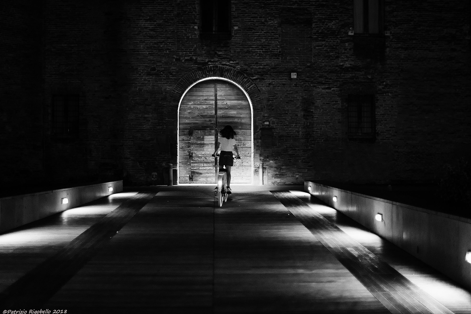Cyclist in the night...