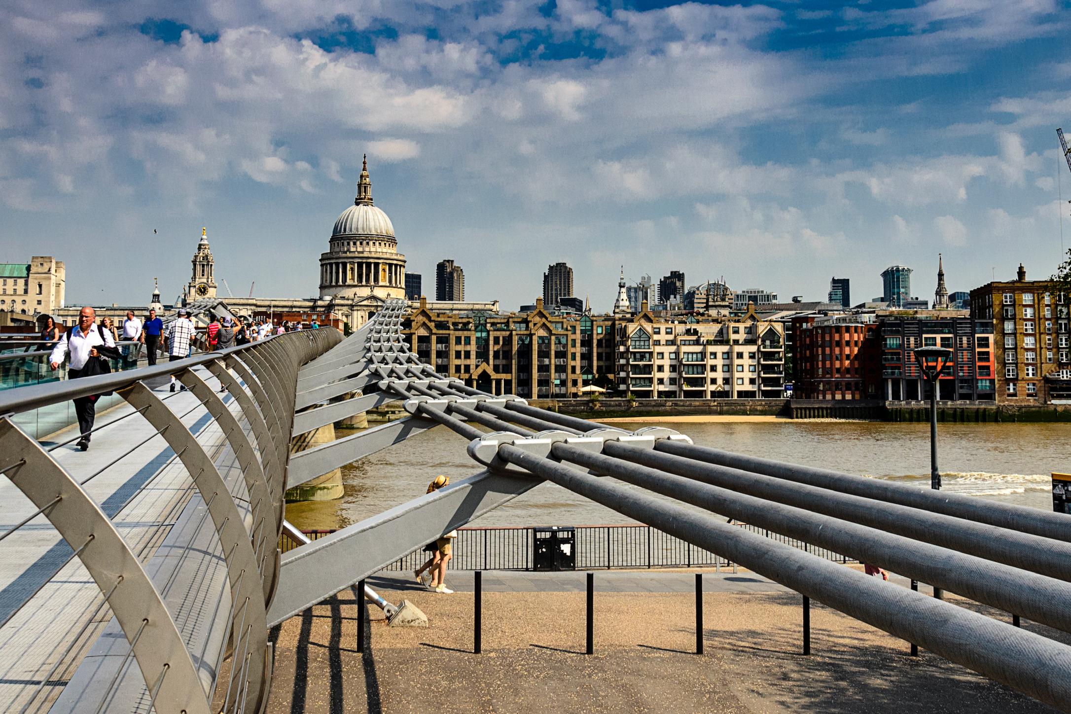 Millennium Bridge and Saint Paul Cathedral...