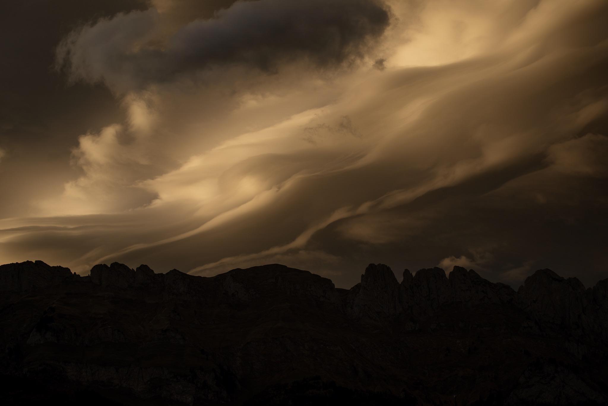 Evening clouds...