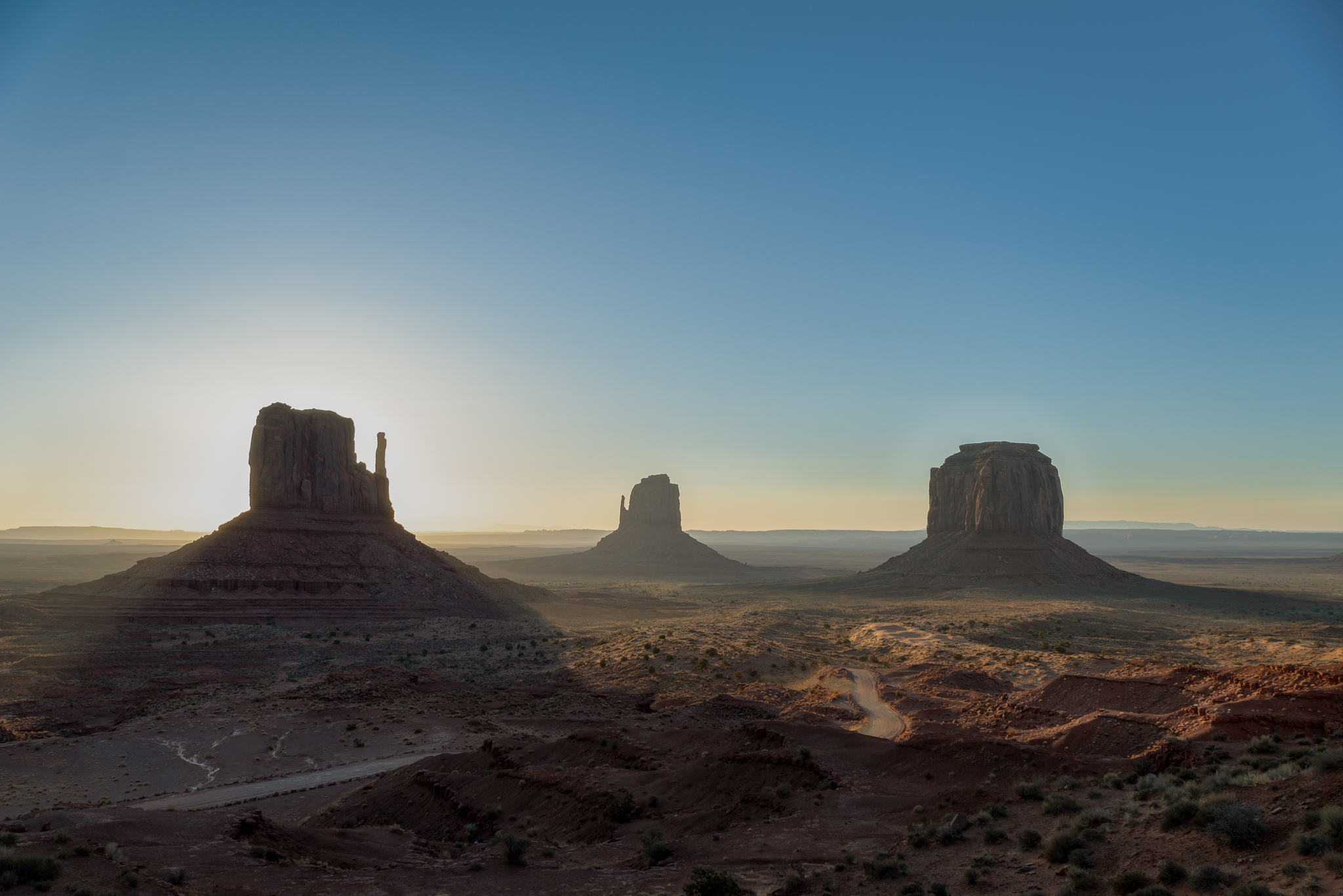 Sunrise in Monument Valley...