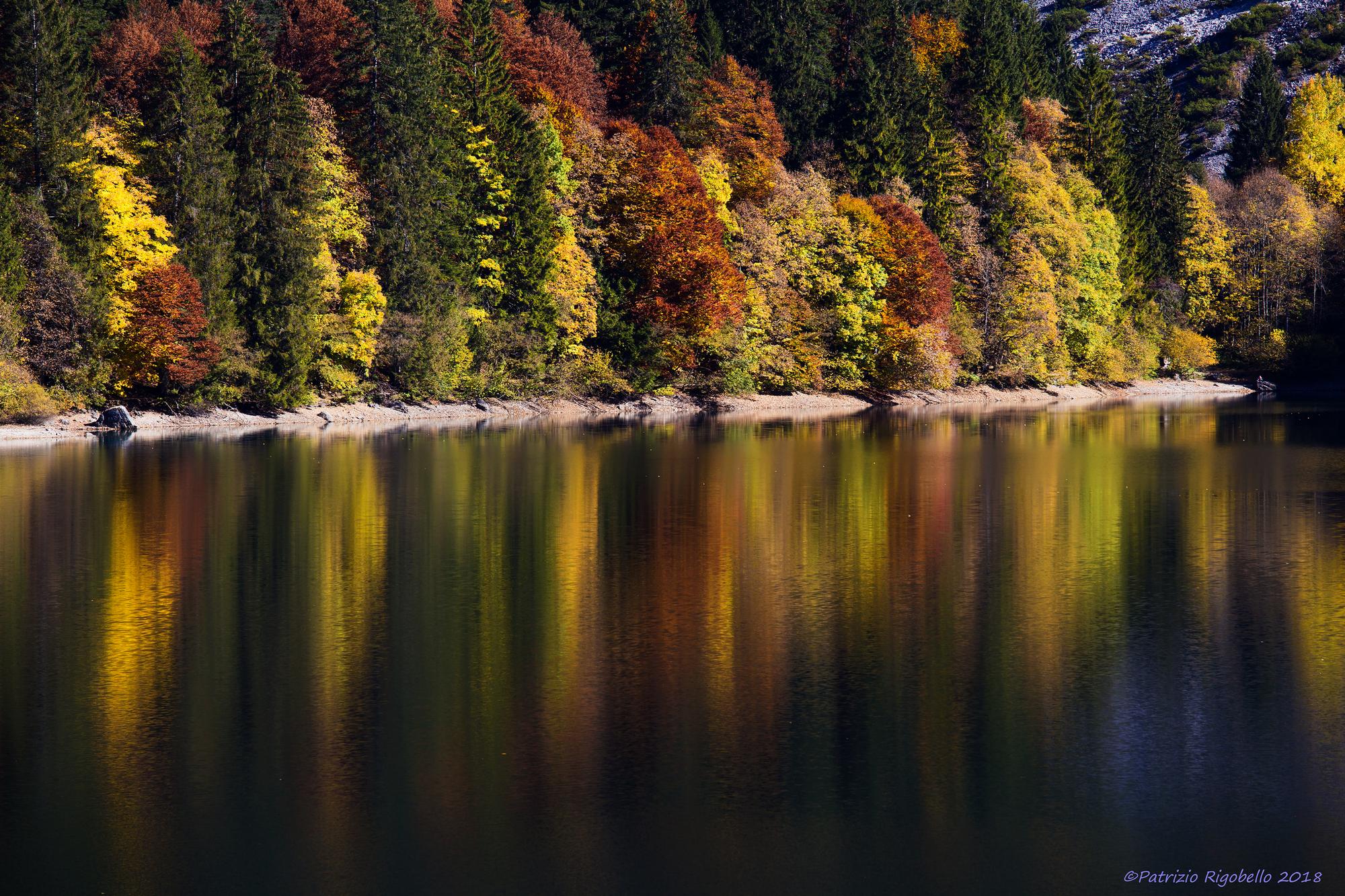 Autumn Reflections at Lake Tovel...