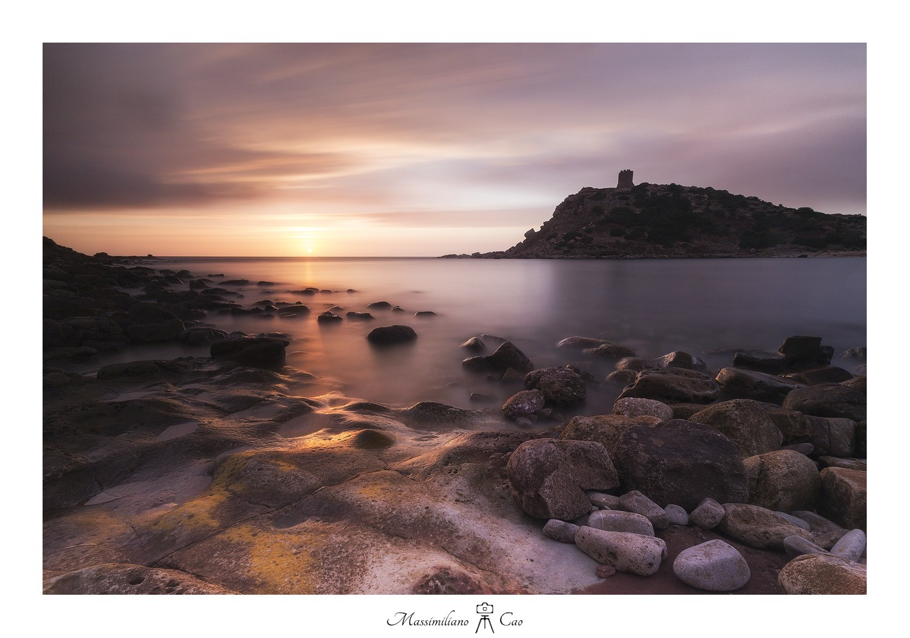 Sunset on the west coast of Sardinia...
