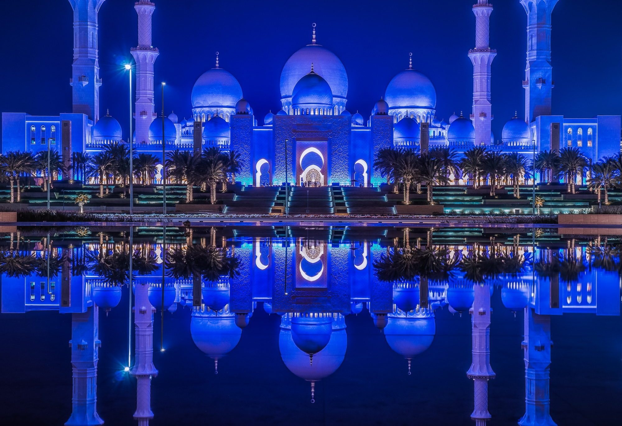 Sheikh Zayed Grand Mosque in the mirror...