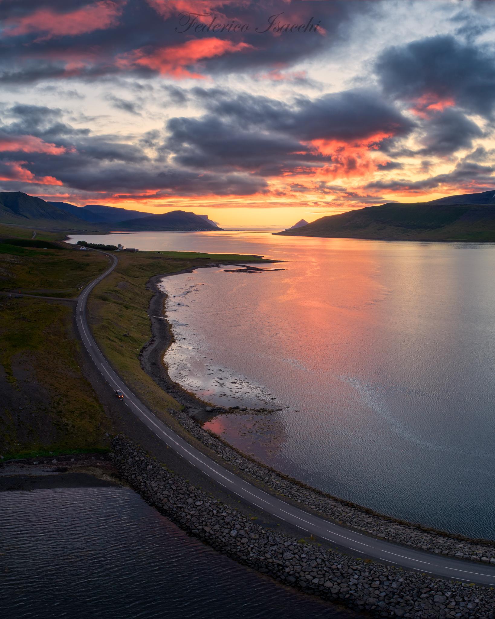 Tramonto nei Westfjords...