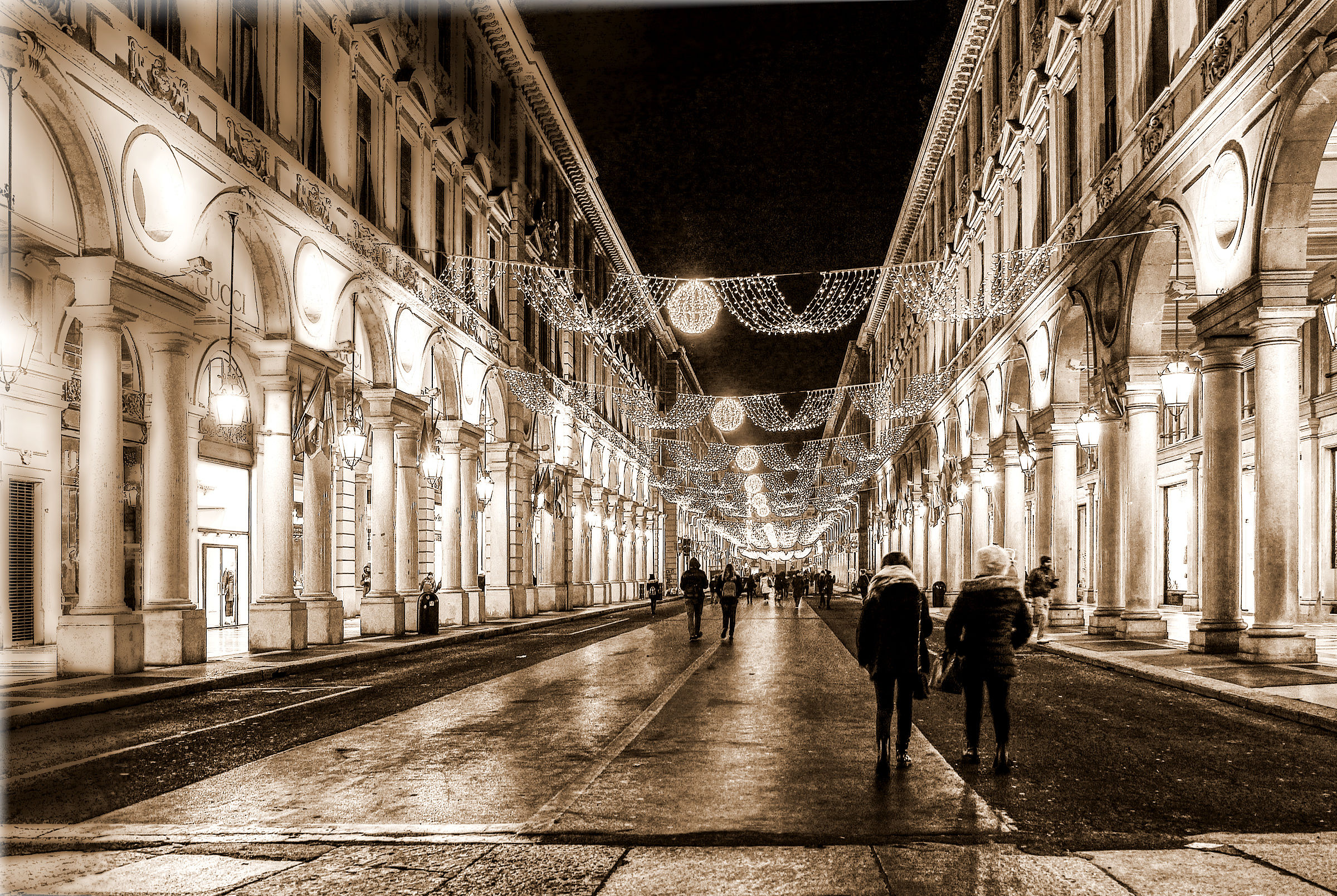 Lights in Turin...
