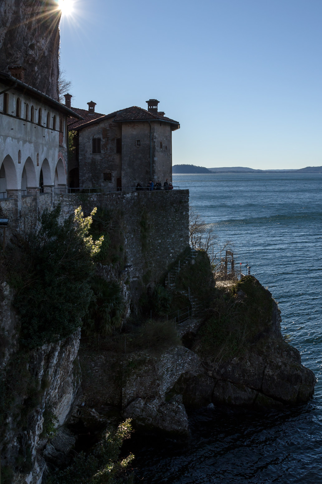 Leggiuno-Hermitage of Santa Caterina del Sasso...