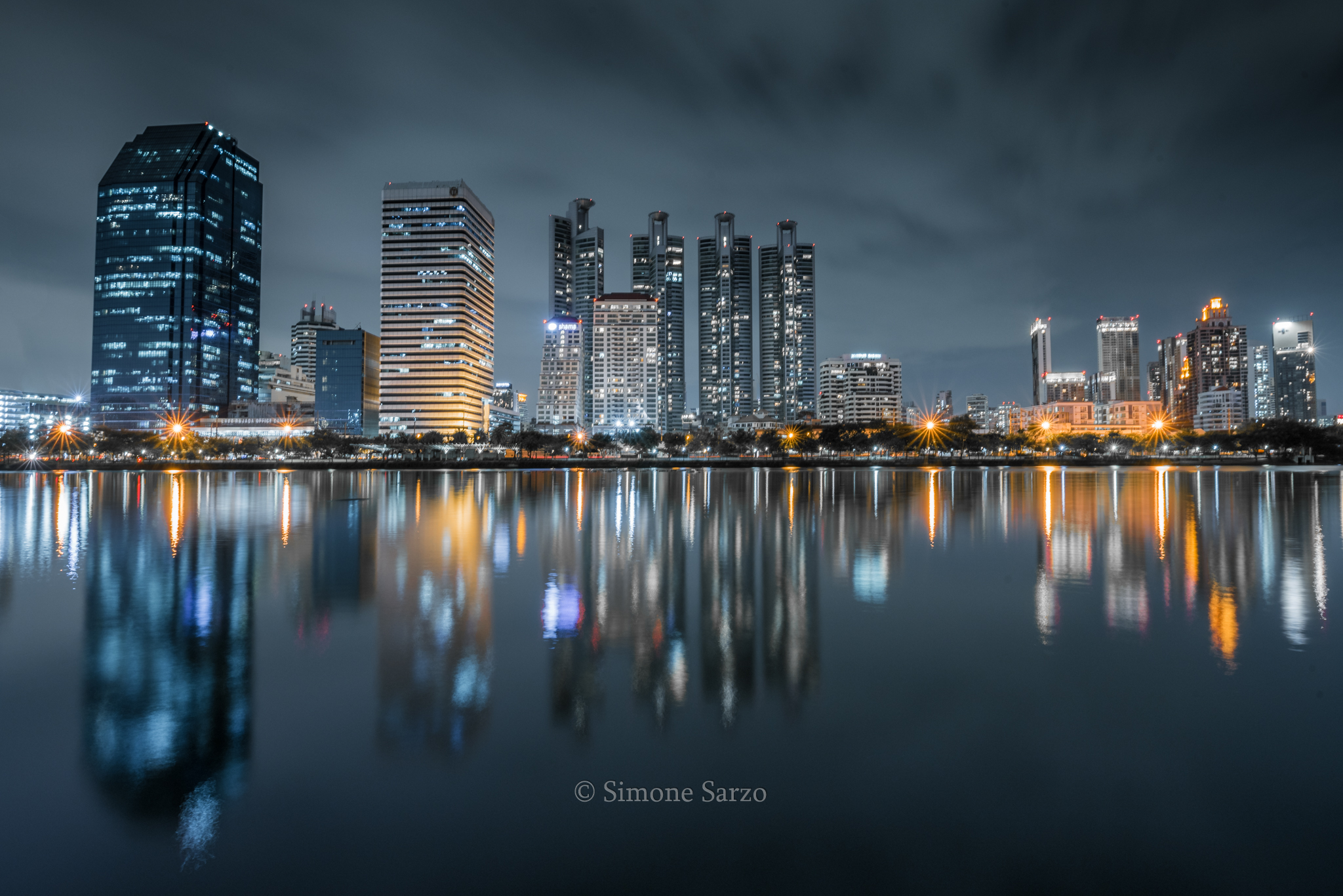 Reflections at Benjasiri Park...
