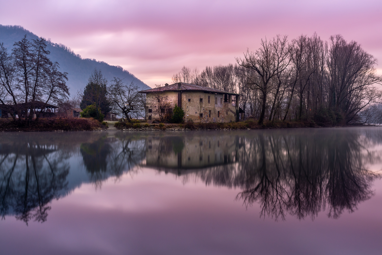Dawn in Brivio...