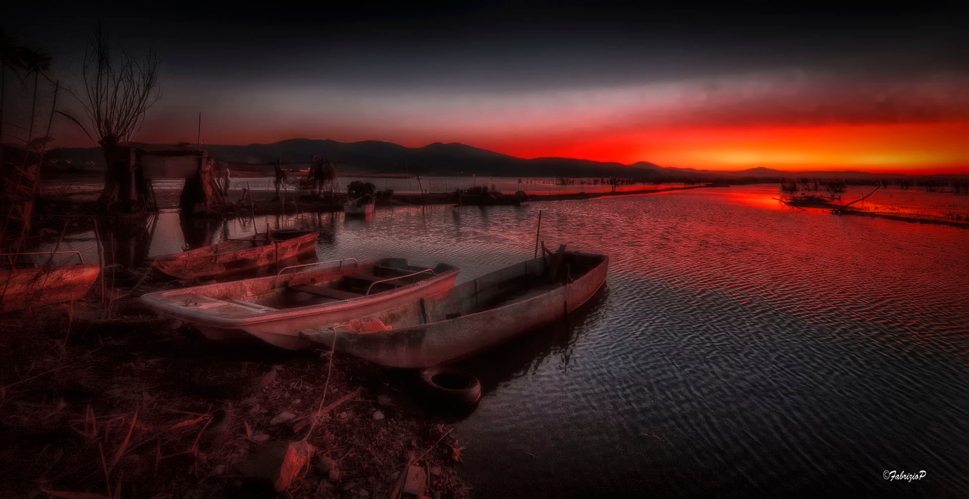 The redness of a sunset ...