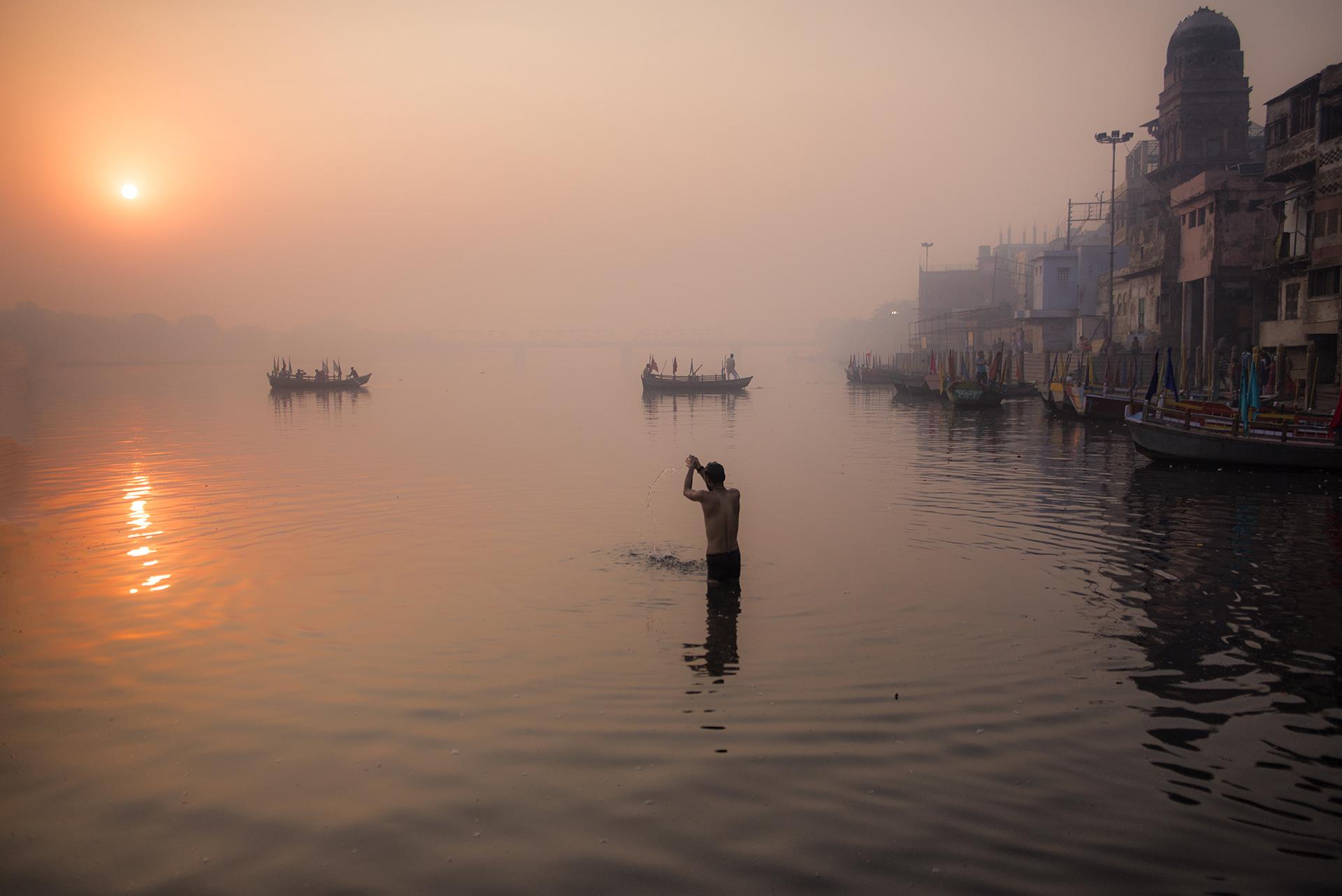 Dawn in Mathura...
