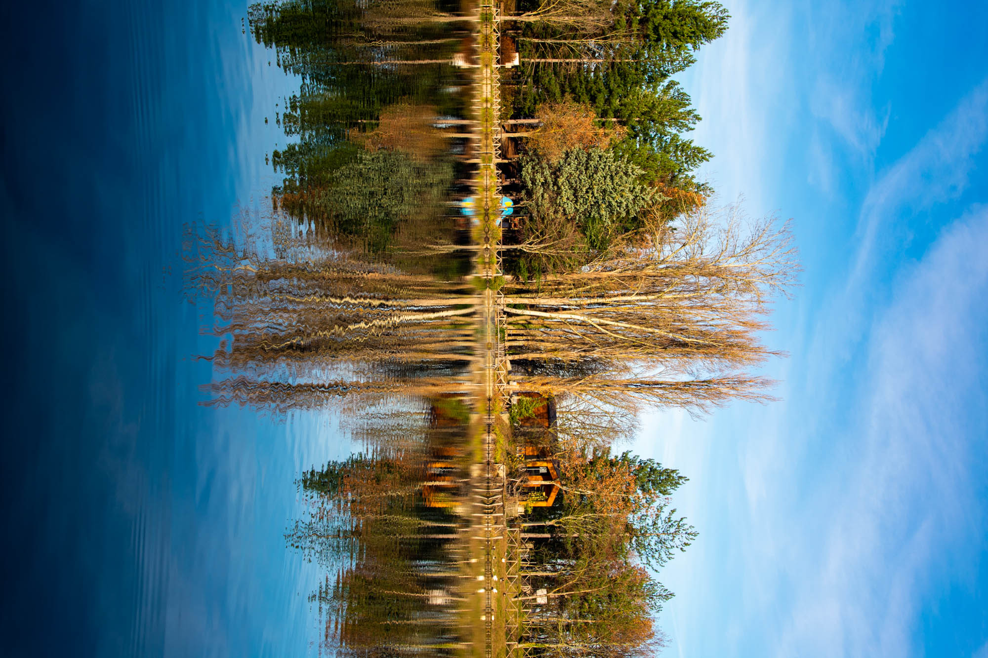 Reflections on the Lake of Andreuccio-Pennabilli (RN)...