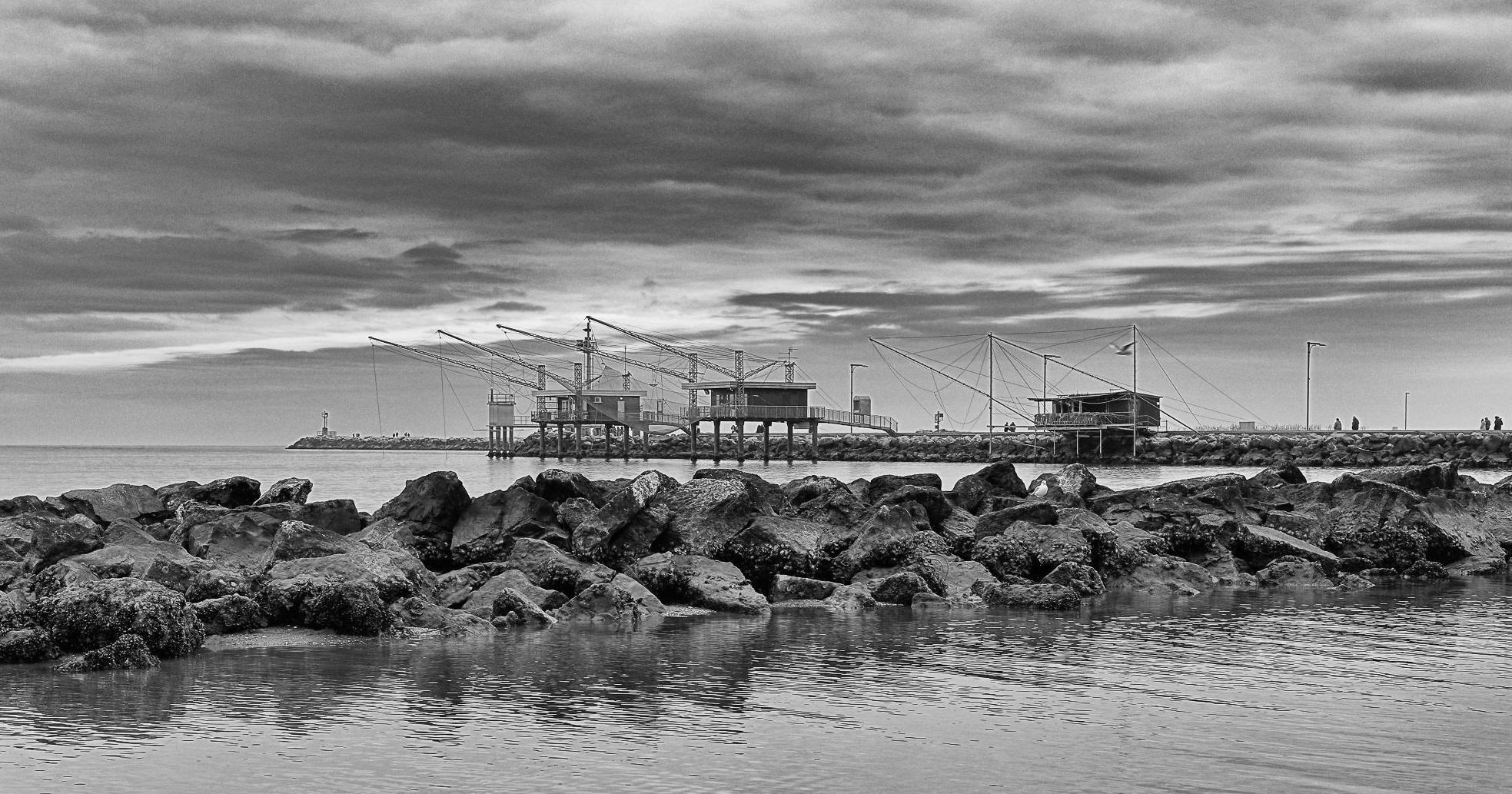 Porto Garibaldi, il molo a metà Gennaio.......