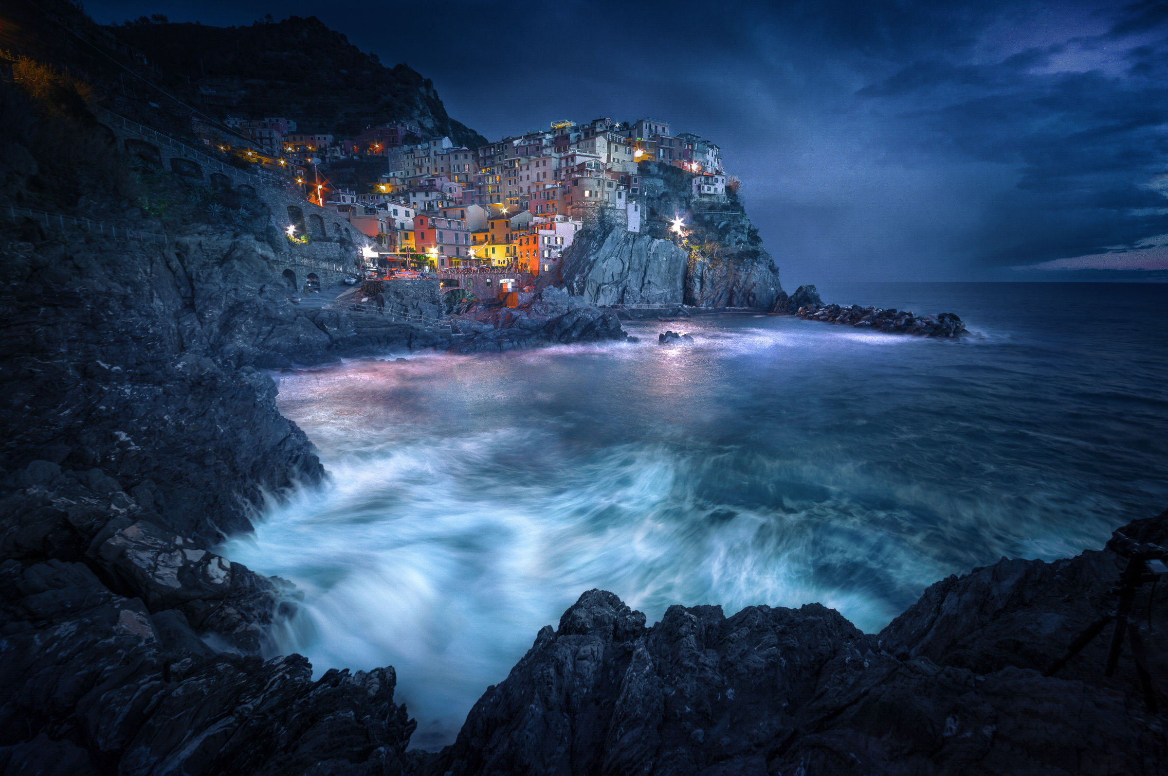 Manarola at Nightfall...