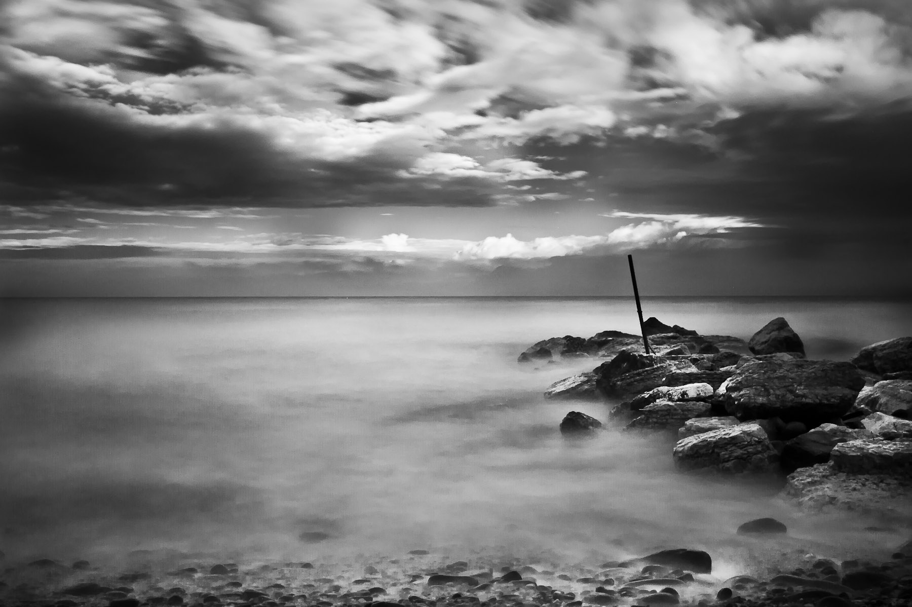 the sea in BW...