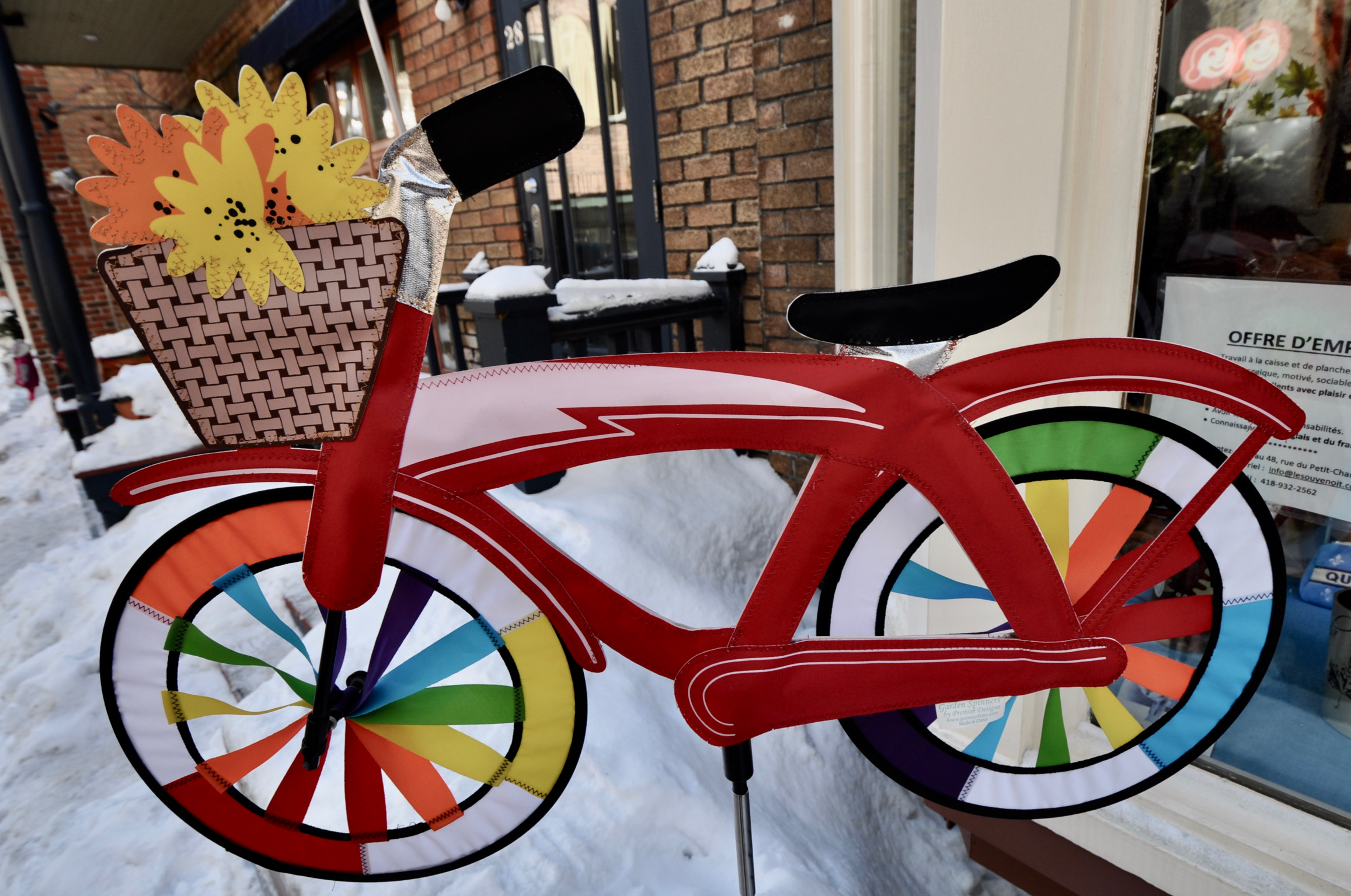Let's go cycling in the snow - Quebec City...