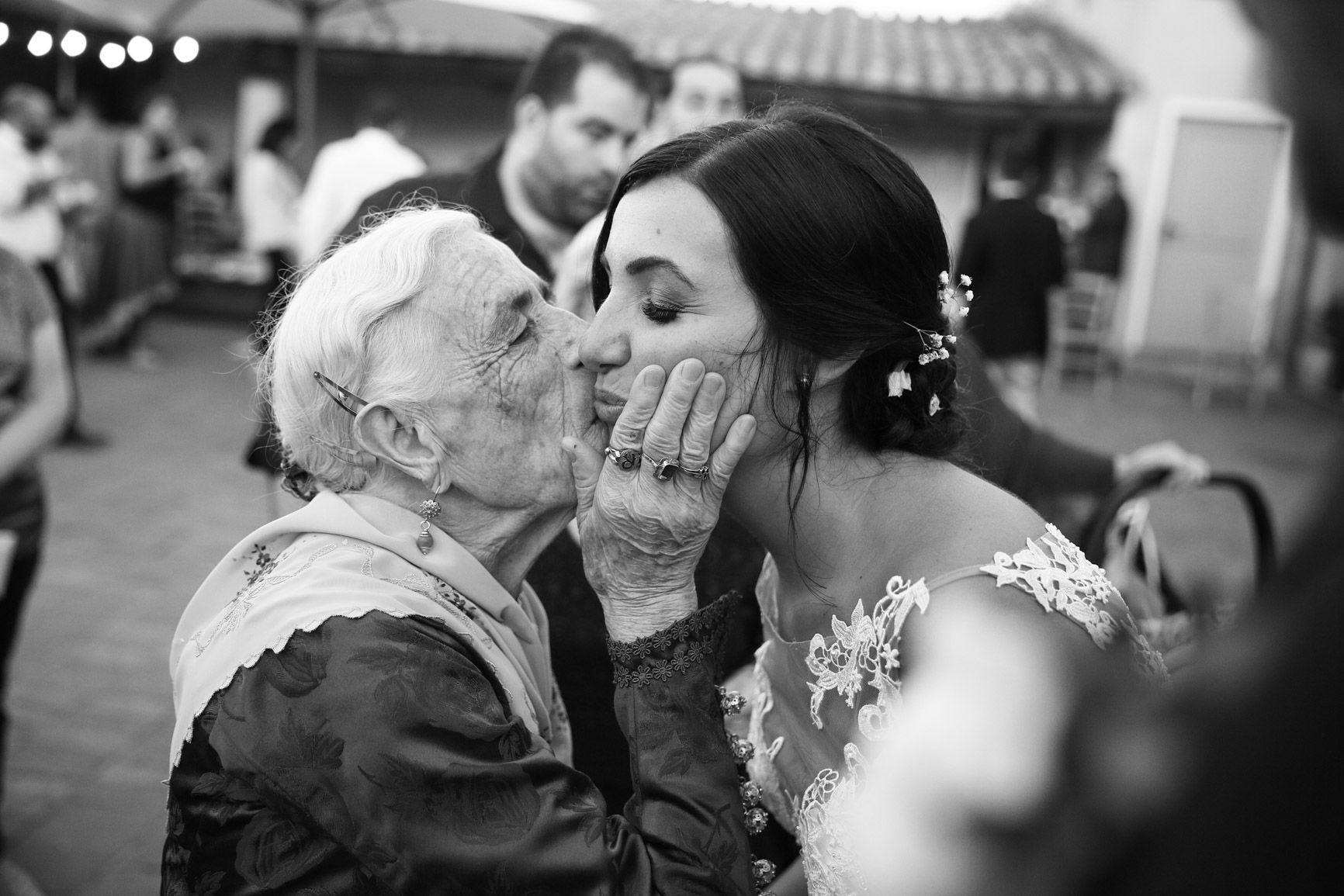 The bride and the Granny...
