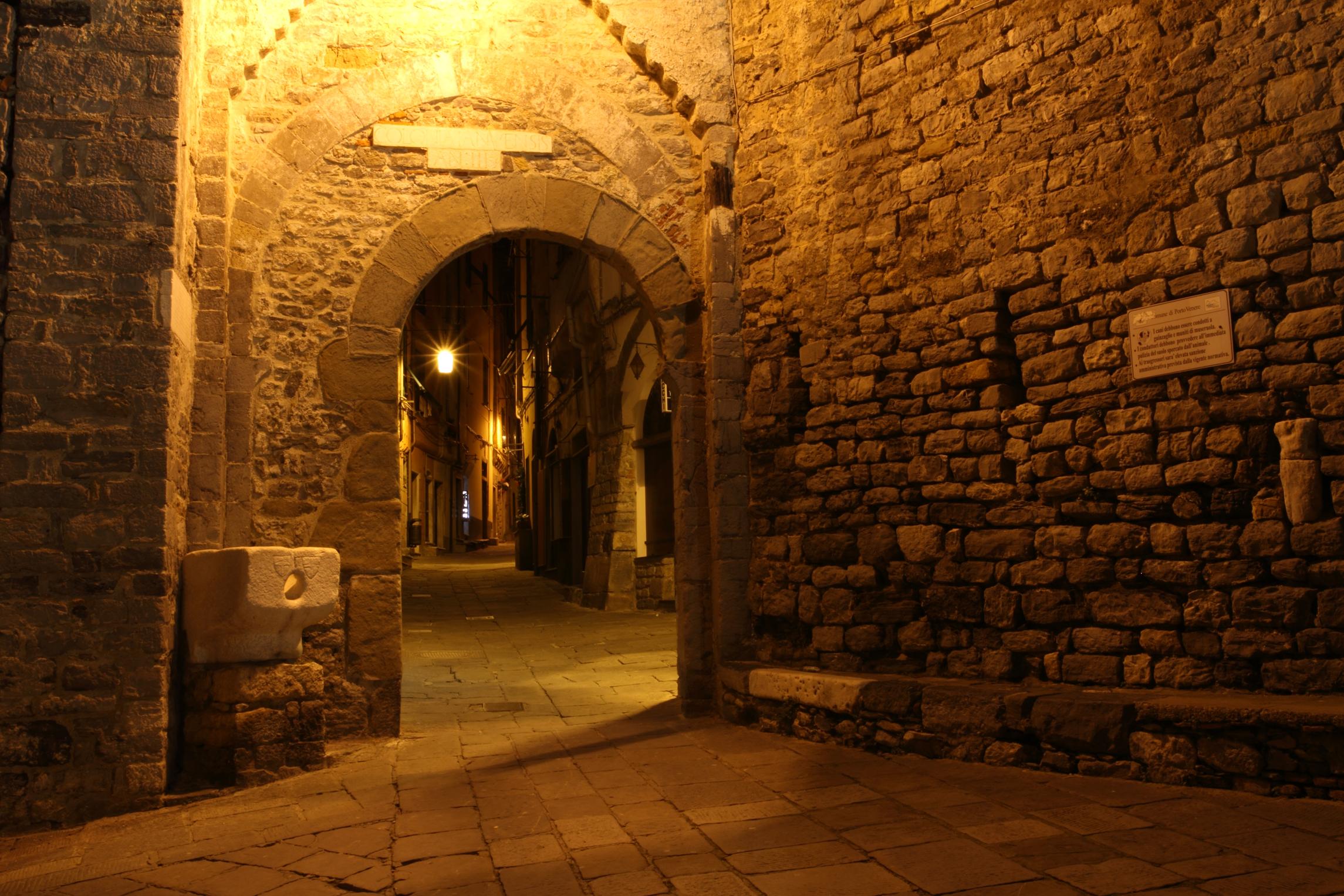 the door of the village of Portovenere...