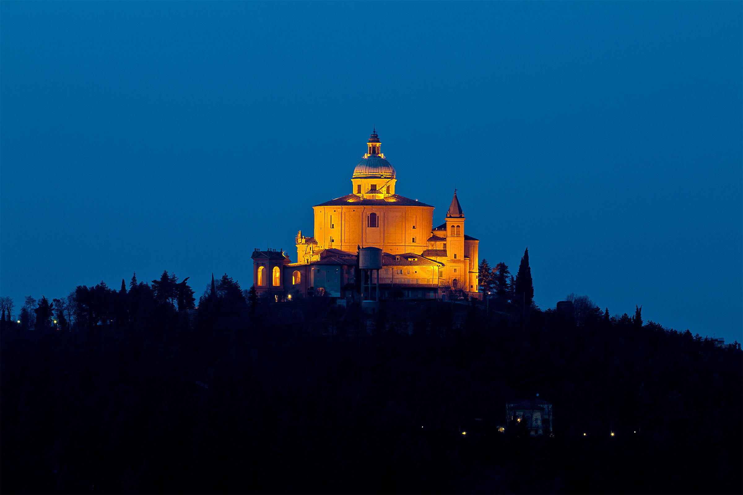 San Luca during the blue hour...