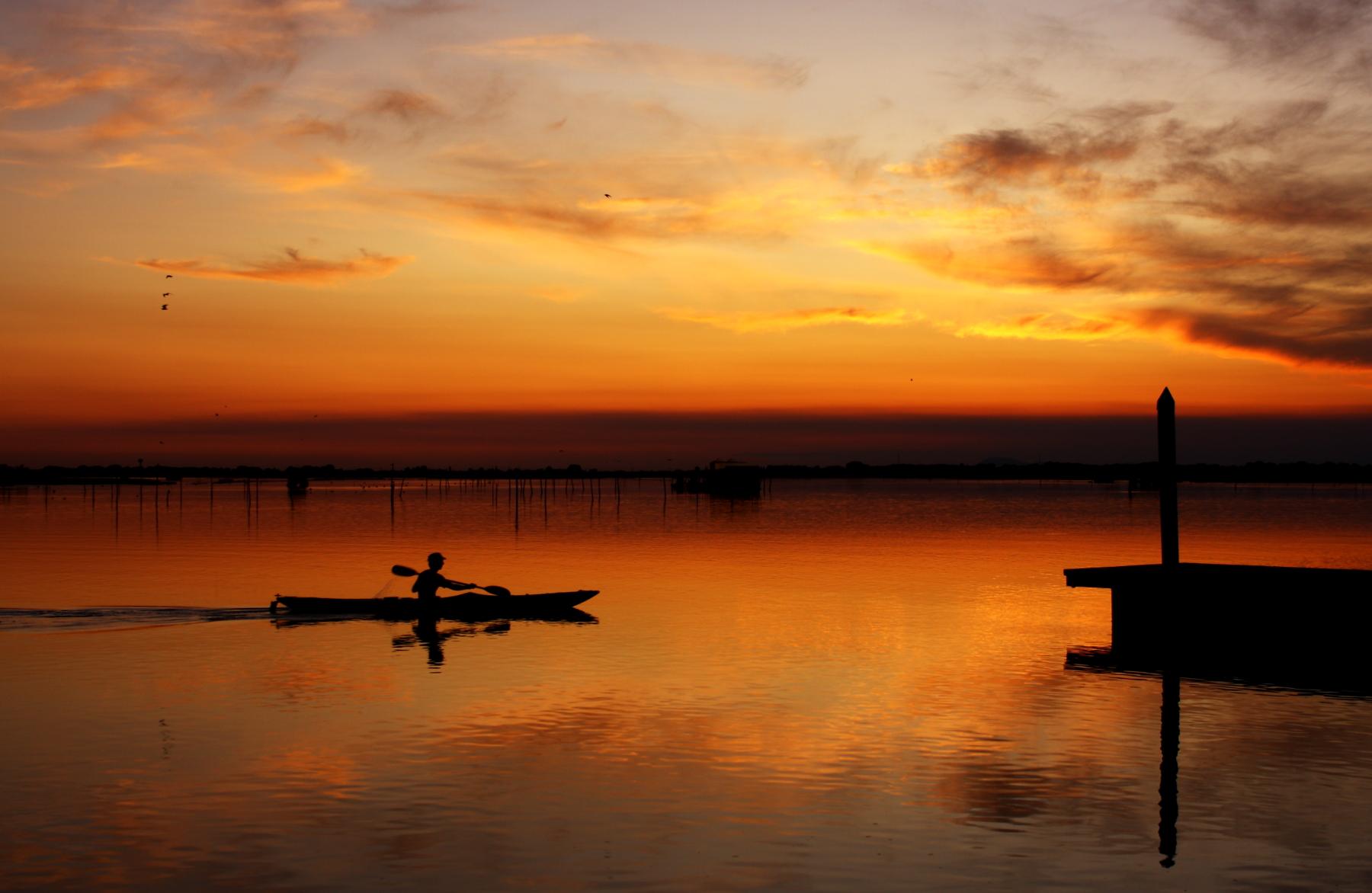 Rientro in canoa...