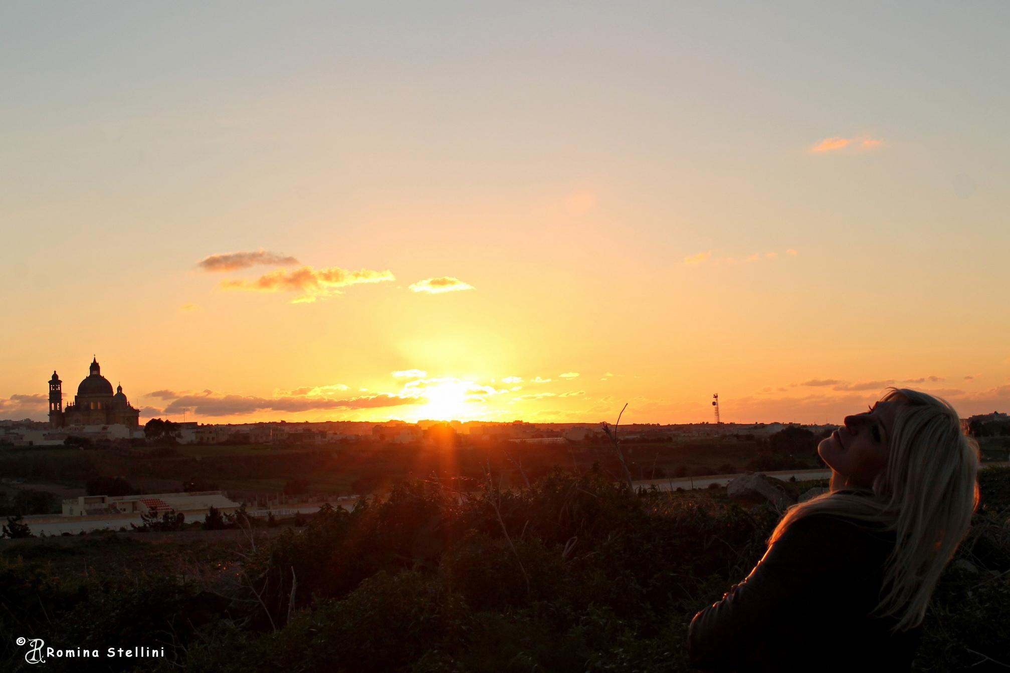 Sunset lady...