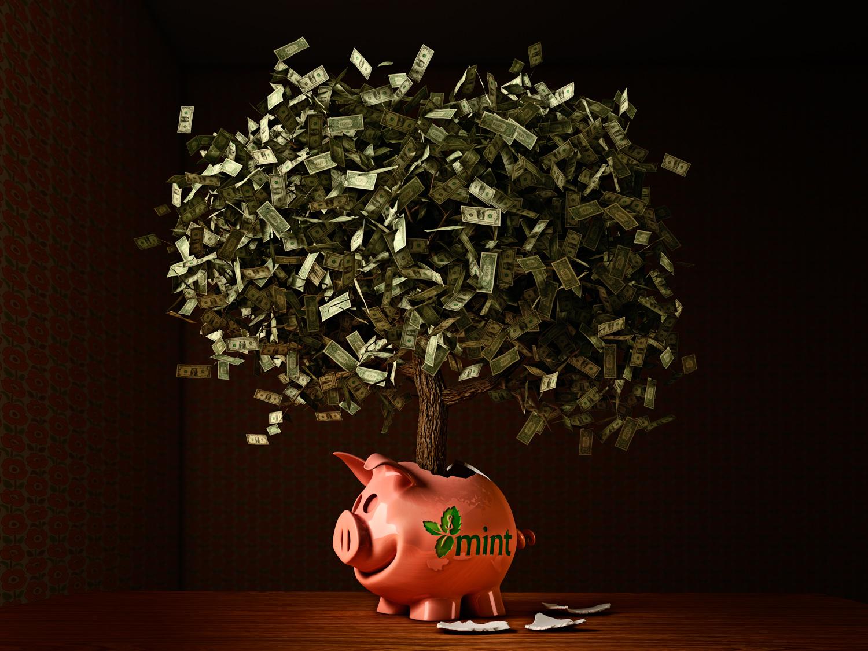 Mint piggy bank...