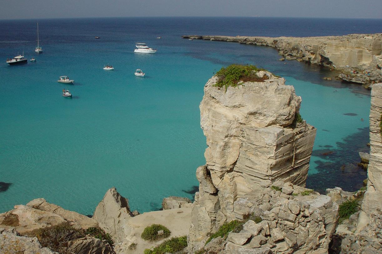 the sea of ??Favignana...