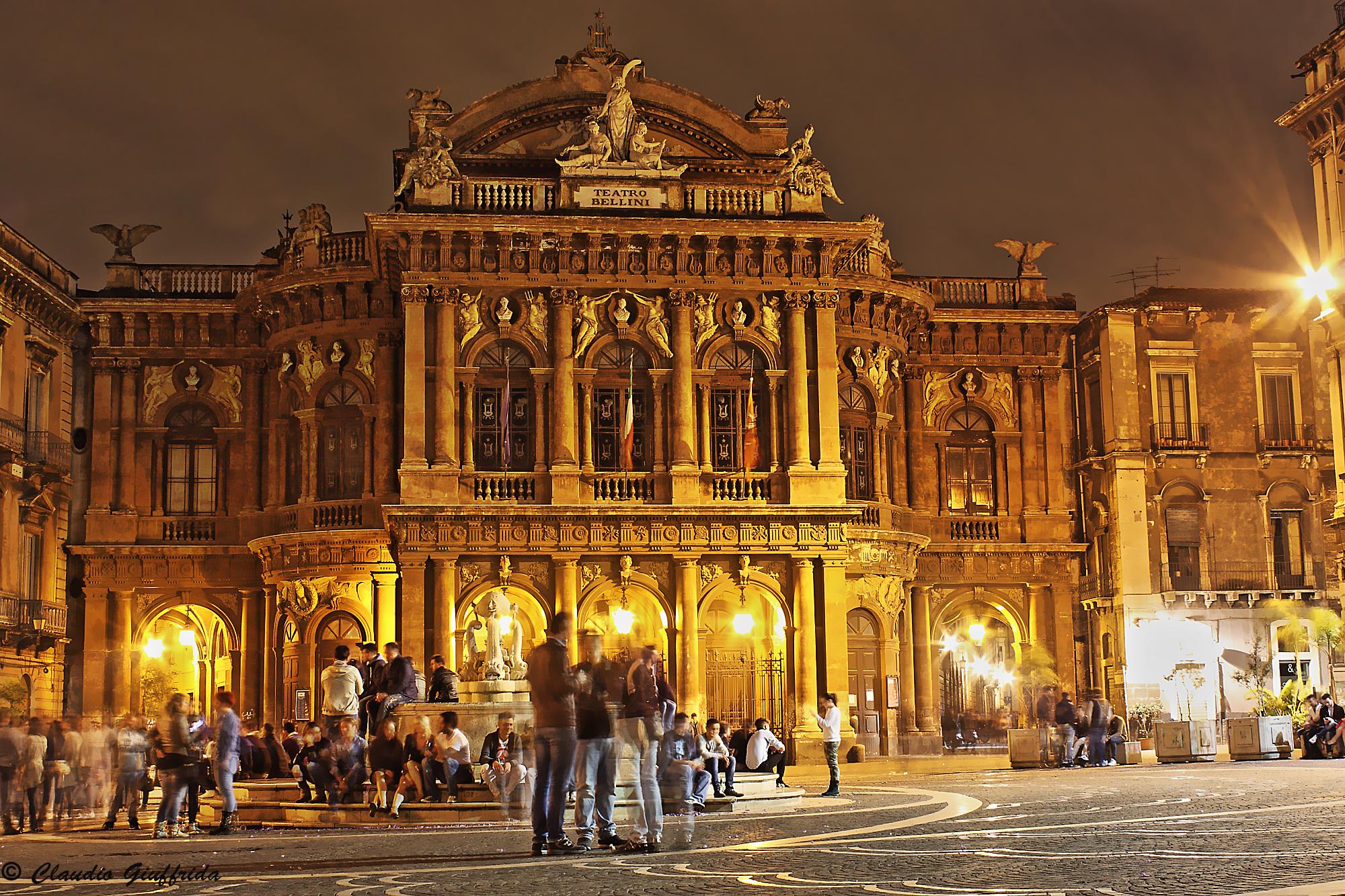 Piazza Teatro Massimo in Catania...