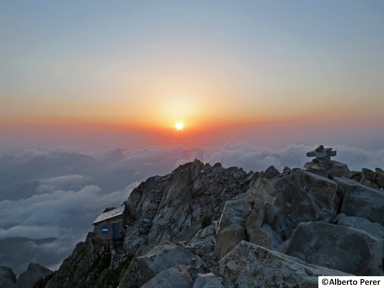 Sunset from the top ......