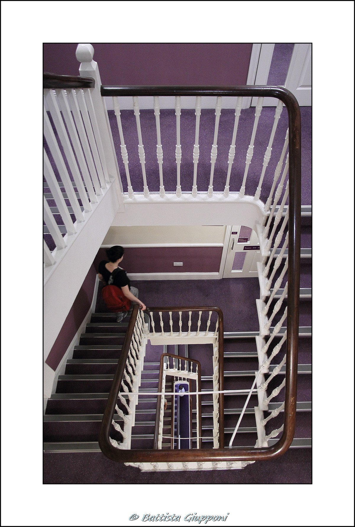 Hotel stairs - London...