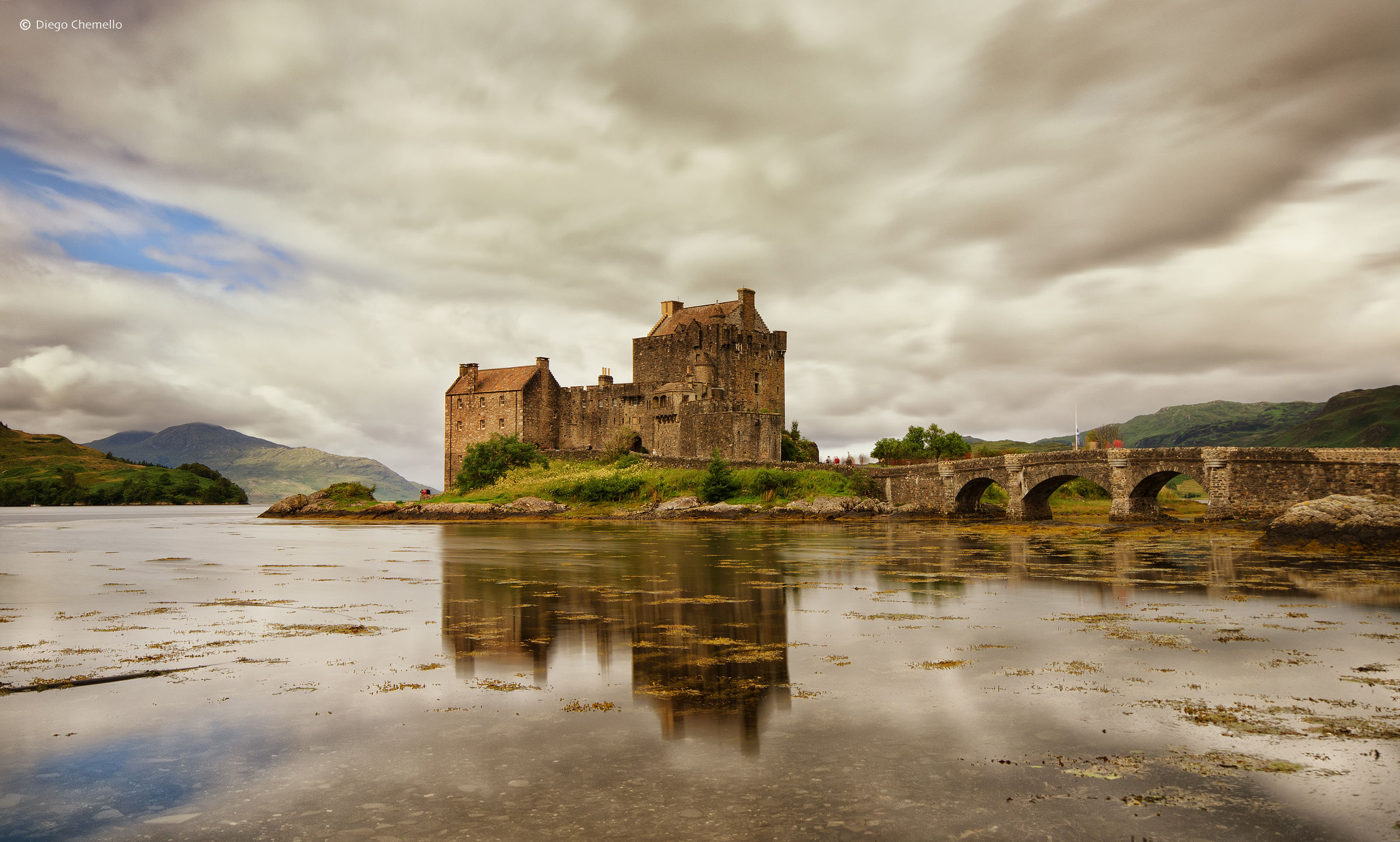 Reflections on the lake of Eilean Donan Castle...