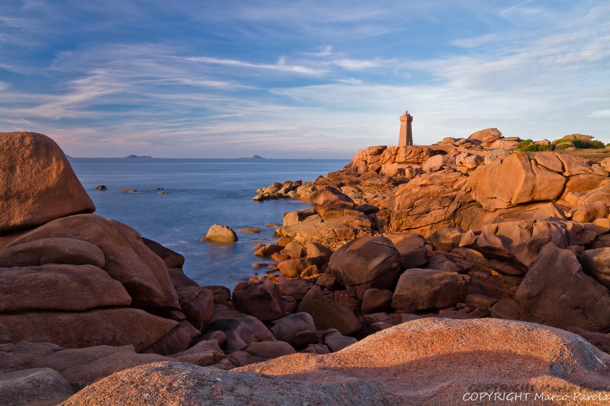 sunset at the lighthouse (ploumanac'h)...