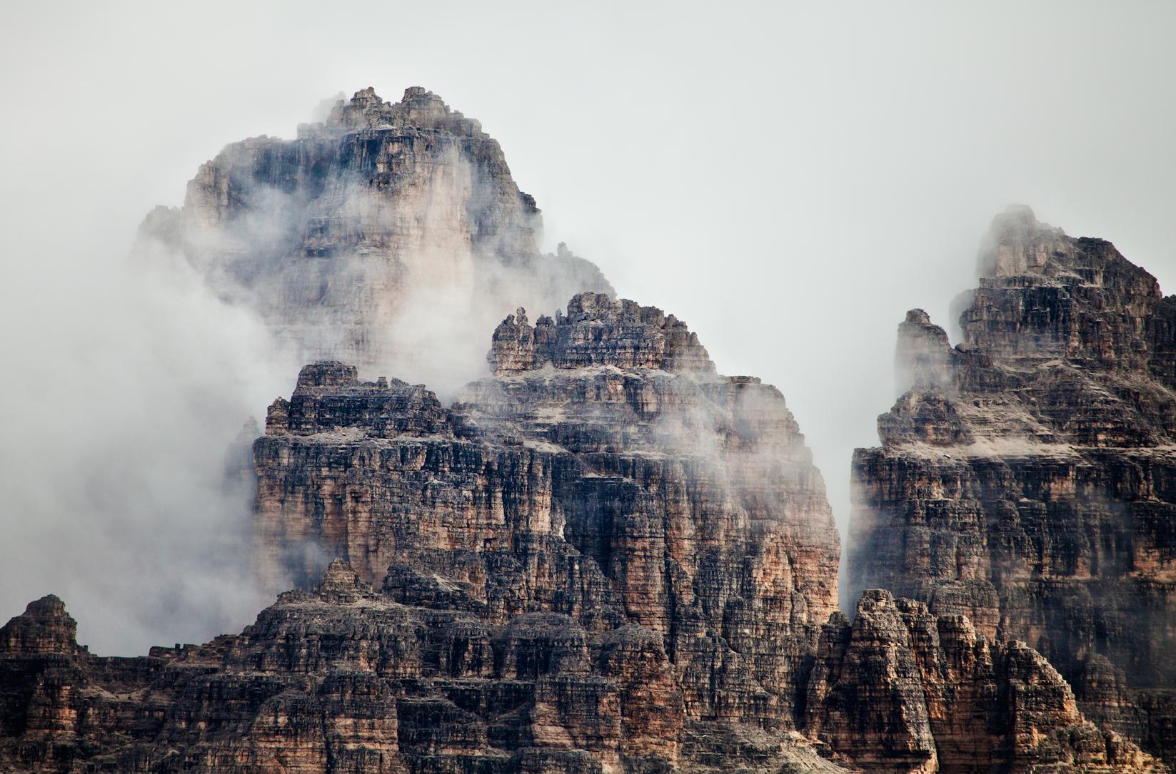 Mist on the peaks...