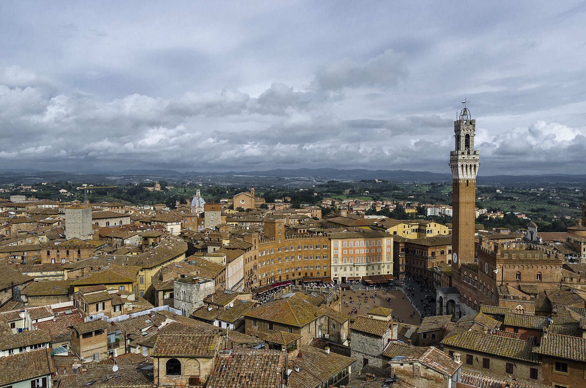 View of Siena Piazza del Campo by Pediment...