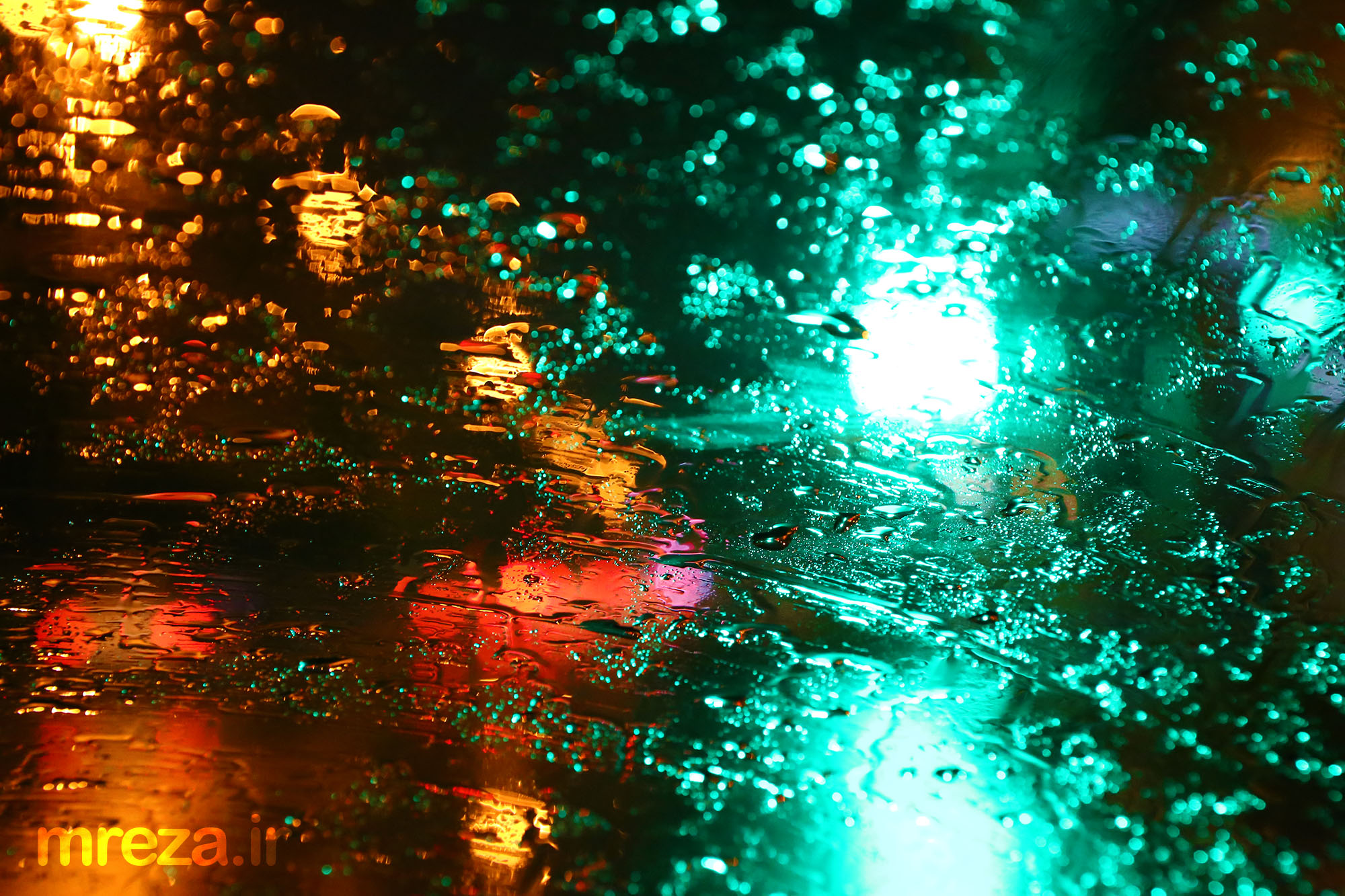 Rain from behind the glass...