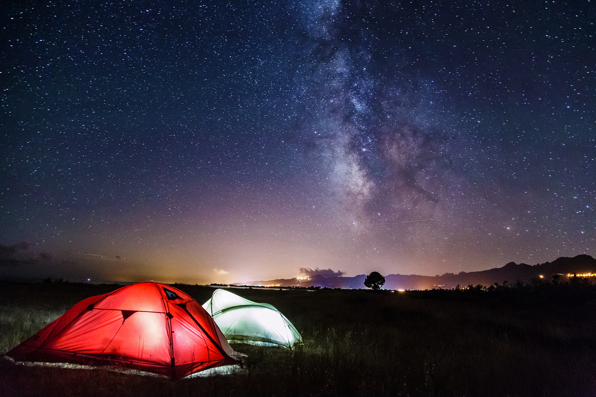 Camping under the Milky Way...