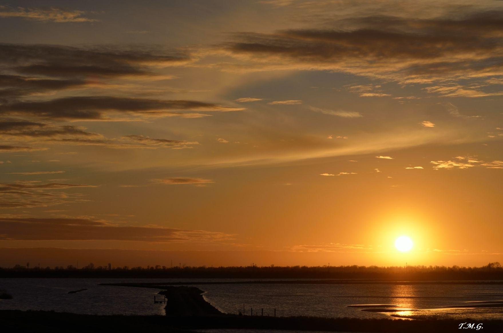 Sunset on the lagoon...