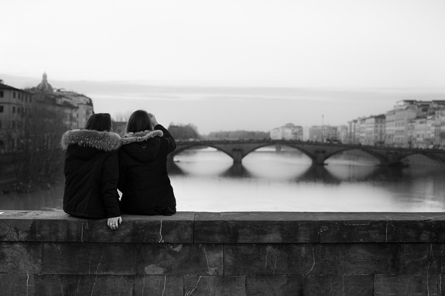 On the bridge...