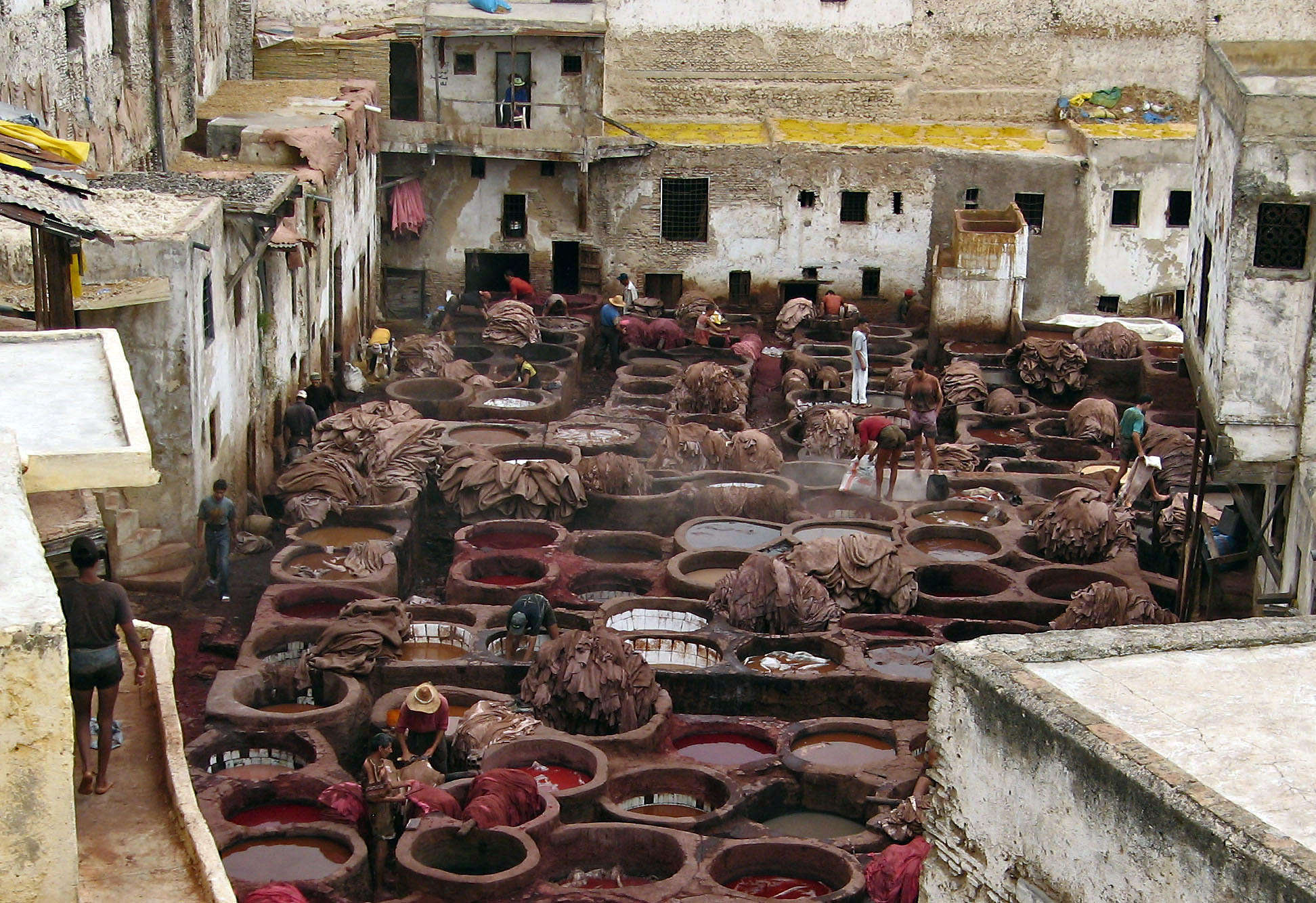 tanneries of Fez...