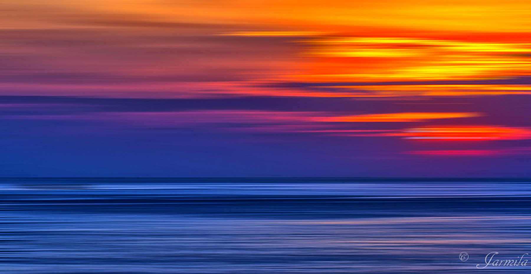 Il tramonto a modo mio...
