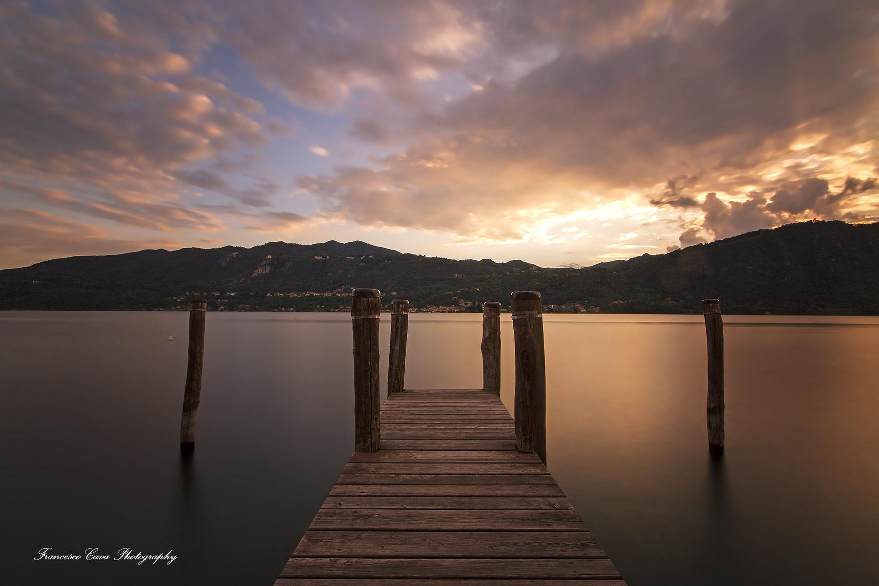 Sunset on Lake Orta ........