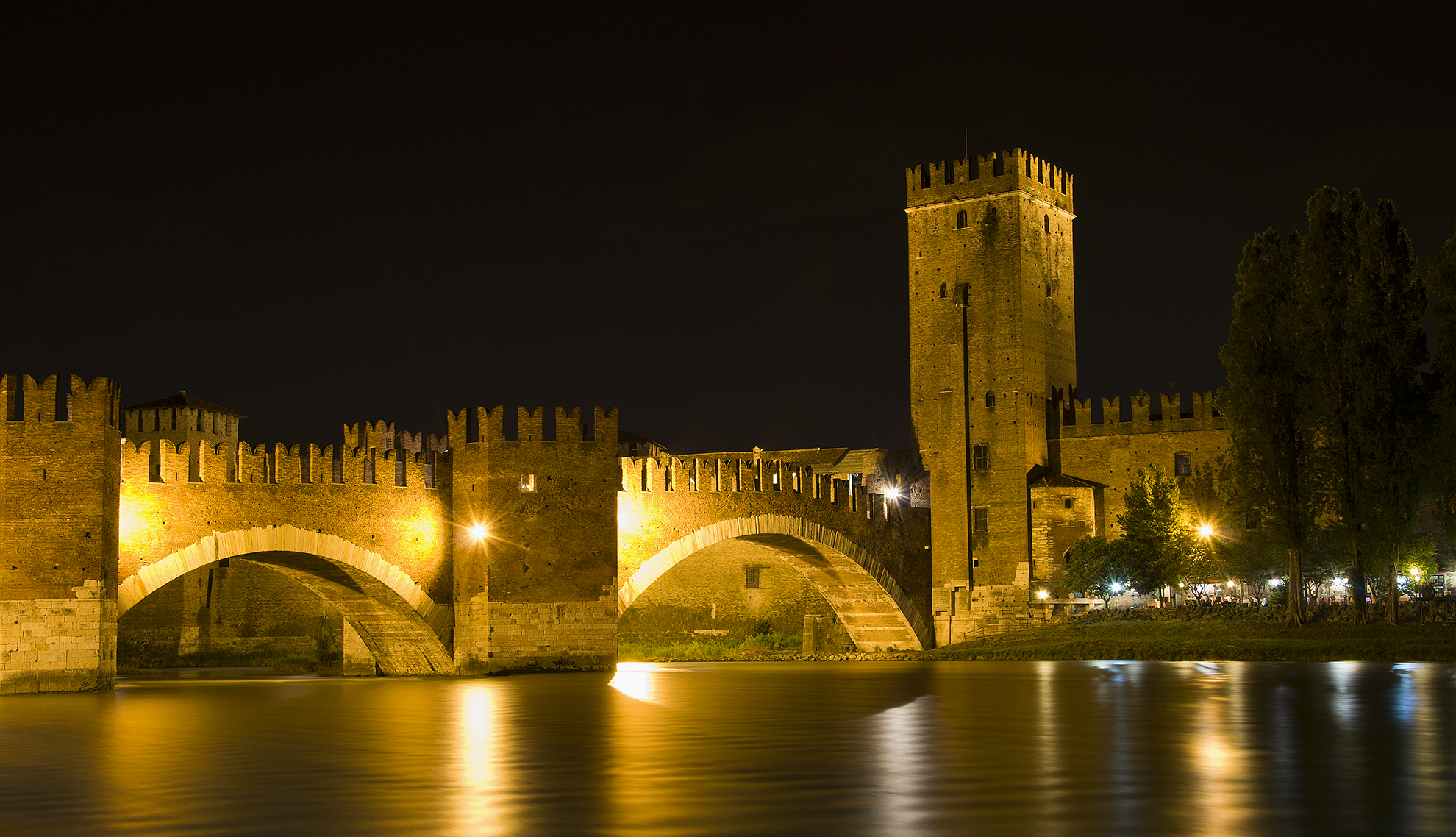 Verona by night...