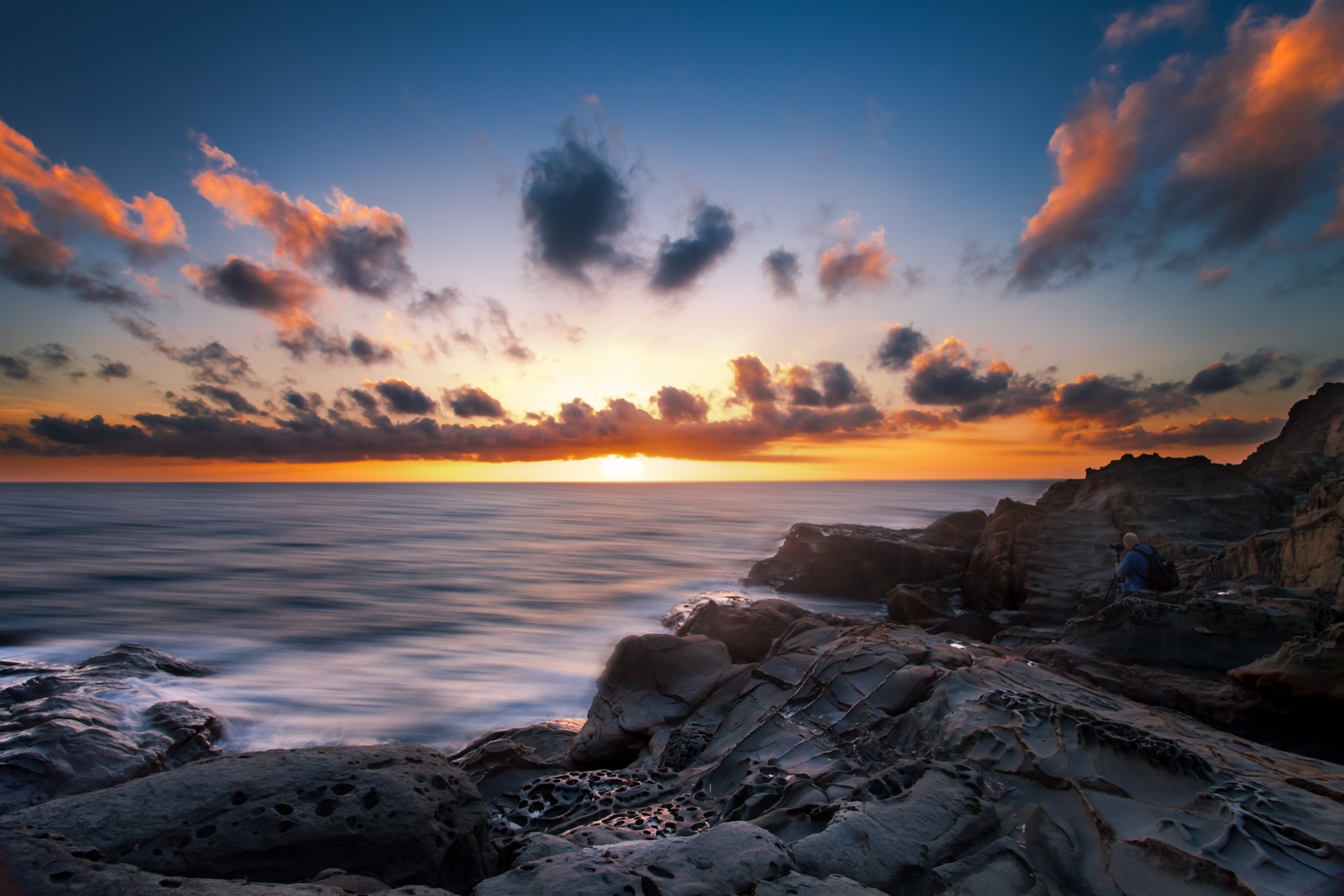 Photographer at sunset...
