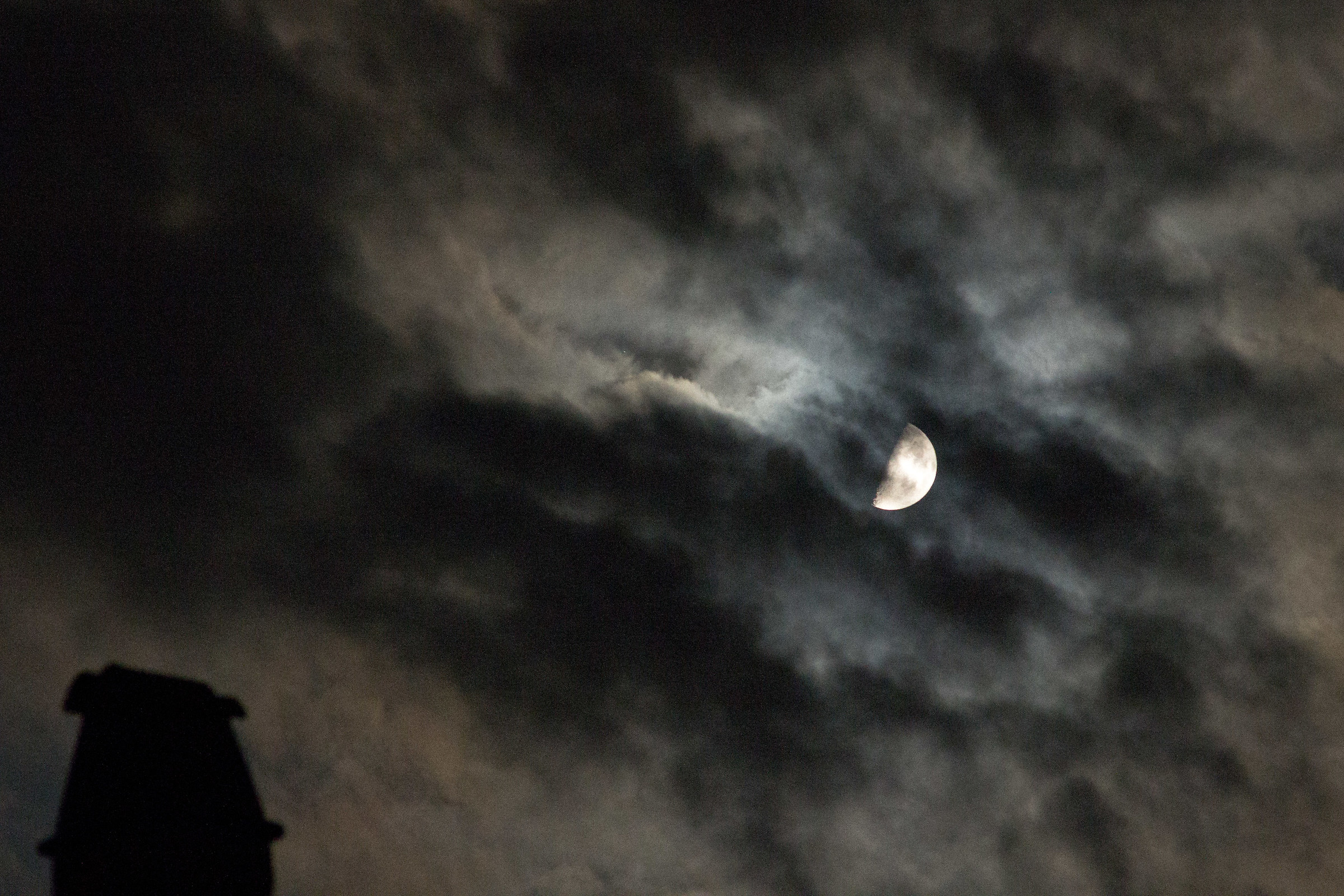Moon & fireplace...