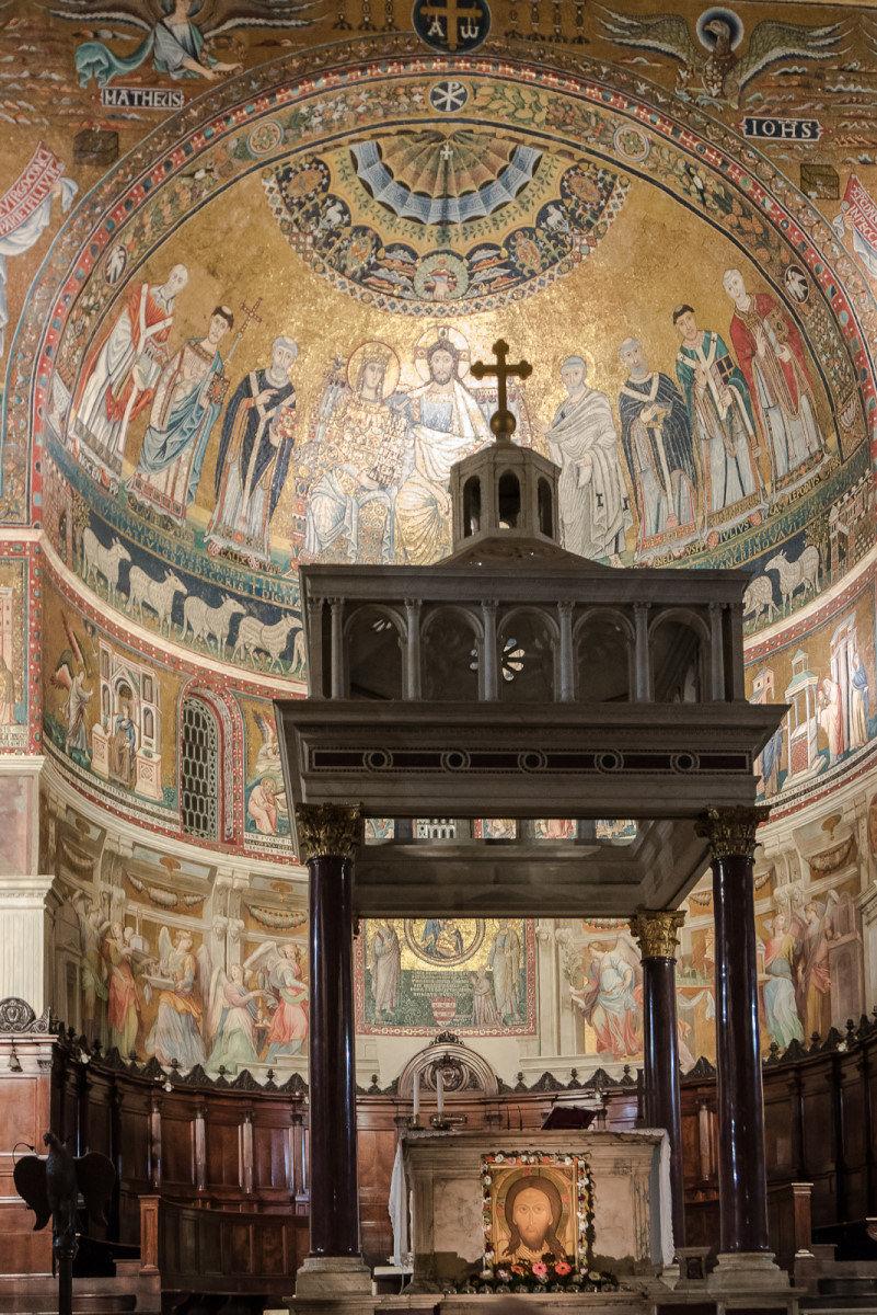 The mosaics of Santa Maria in Trastevere...