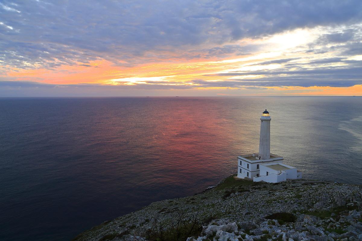 head lighthouse d 'Otranto (the Palascia)...